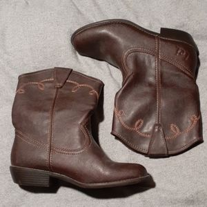 Half boot cowboy boots